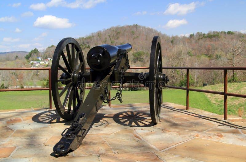 Pezzo di artiglieria storico nazionale del parco del Cumberland Gap fotografie stock