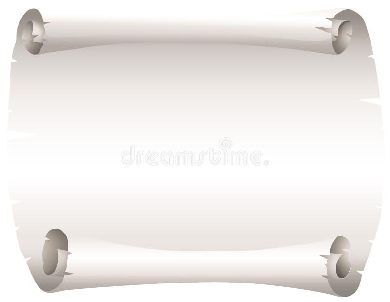 Pezzo di carta in bianco illustrazione vettoriale