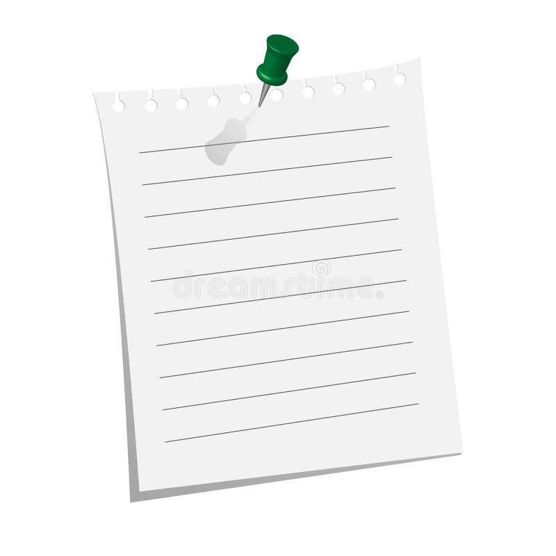 Pezzo di carta in bianco immagine stock libera da diritti