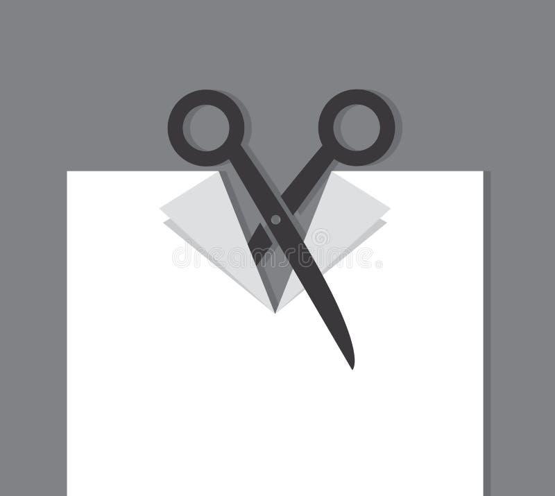 Pezzo di carta del taglio di forbici royalty illustrazione gratis