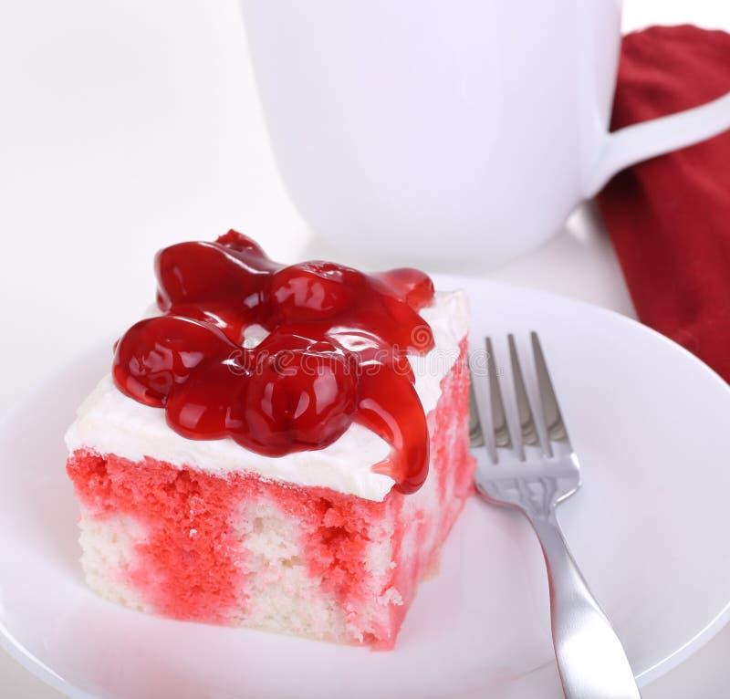 Pezzo di Cherry Cake immagine stock libera da diritti
