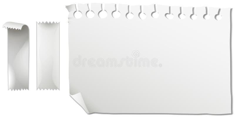 Pezzo di Libro Bianco e di nastri illustrazione vettoriale