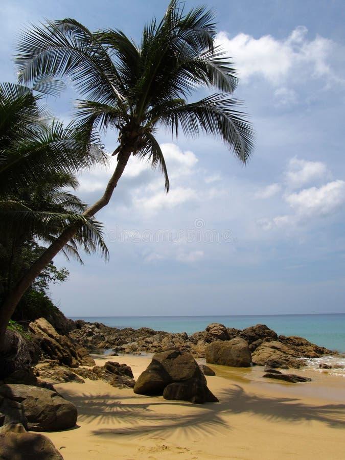 Pezzo di paradiso Vacanze estive sulla riva dell'oceano a partire dalla gente fotografia stock