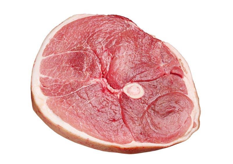 Pezzo di prosciutto crudo del porco fotografia stock libera da diritti