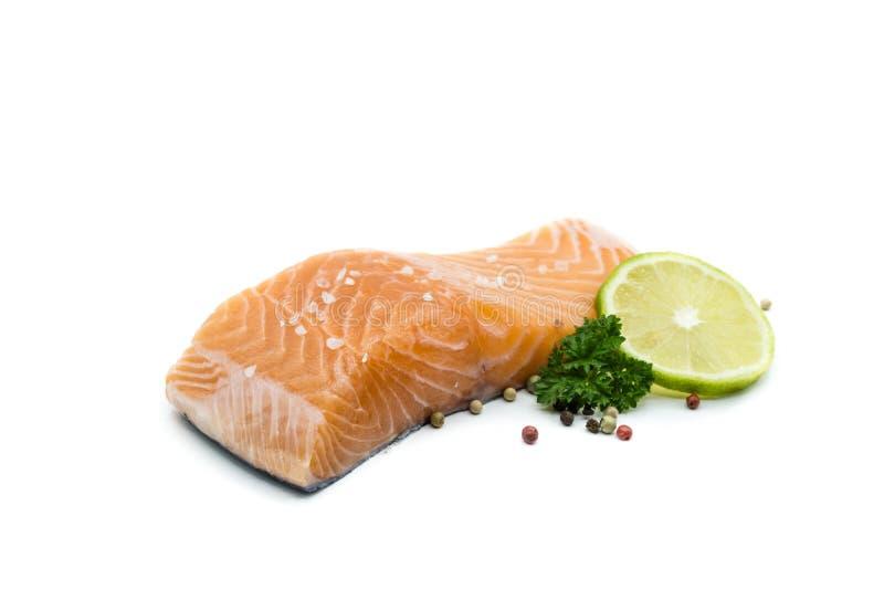 Pezzo di raccordo di color salmone isolato su fondo bianco fotografie stock