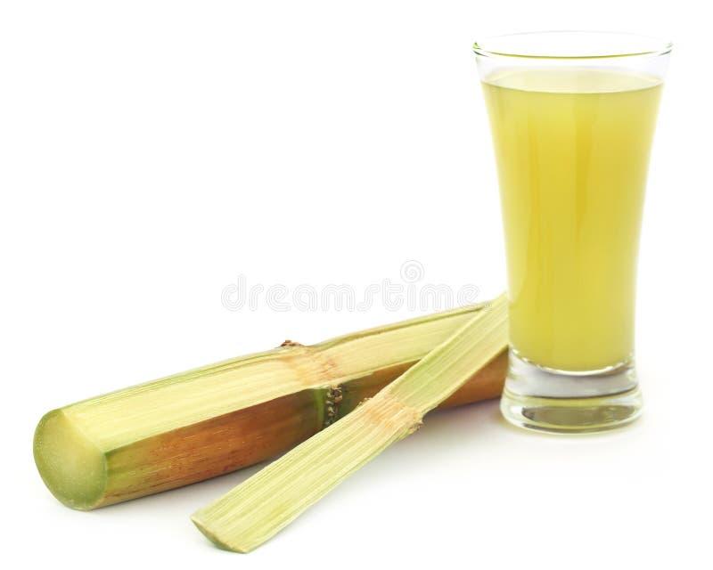 Pezzo di succo della canna da zucchero fotografia stock libera da diritti