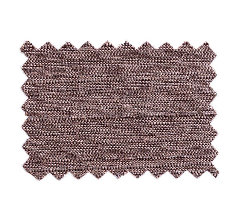 Pezzo di tessuto di colore del campione isolato su bianco fotografie stock