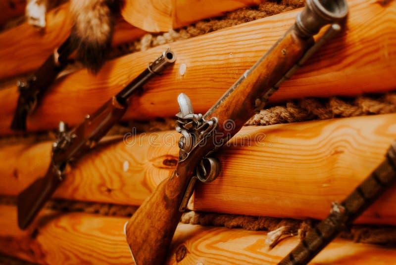 Pezzo di uccellagione d'annata su una parete di legno immagine stock