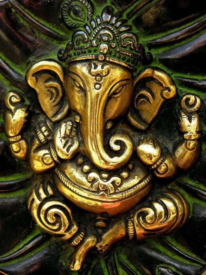 Pezzo fuso della statuetta di Ganesha fotografie stock libere da diritti