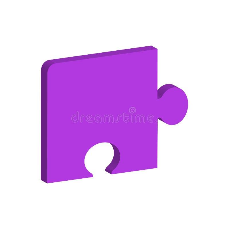 Pezzo unidimensionale di puzzle illustrazione di stock