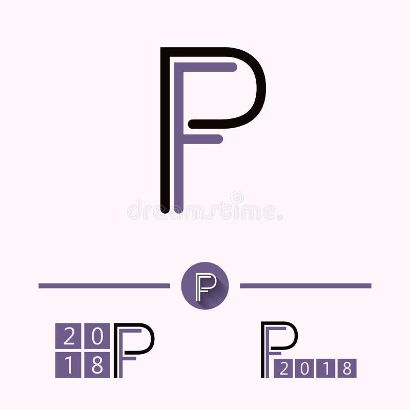 PF embleemvector vector illustratie