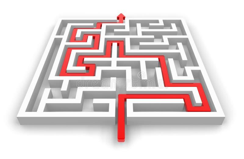 Pfad über Labyrinth vektor abbildung
