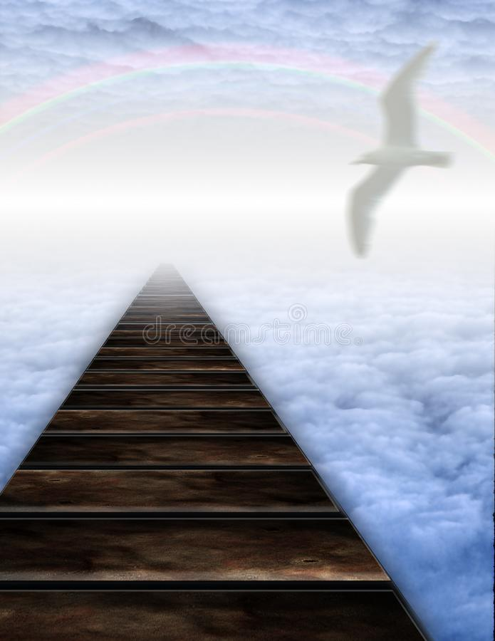 Pfad in Wolken lizenzfreie stockfotografie