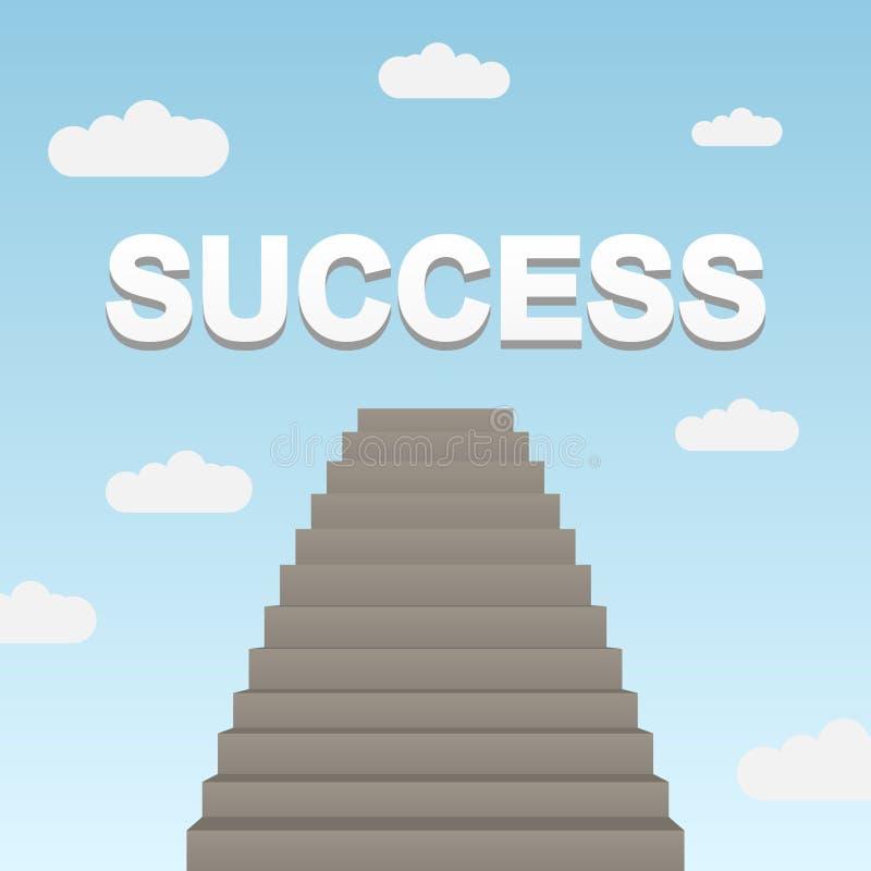 Pfad zum Erfolg lizenzfreie abbildung