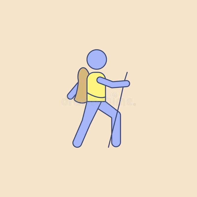Pfadfinderfeld-Entwurfsikone Element Erholungsikone der im Freien für bewegliche Konzept und Netz apps Feldentwurfs-Pfadfinderiko lizenzfreie abbildung