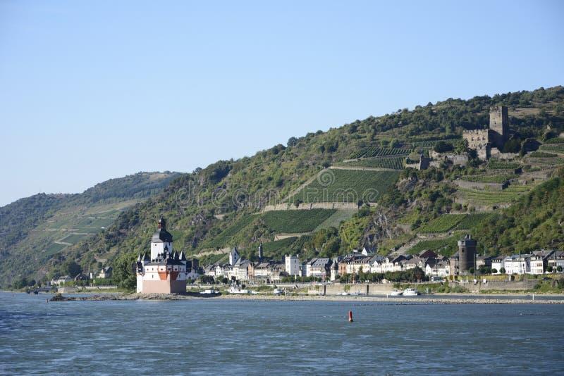Pfalzgrafenstein城堡 图库摄影