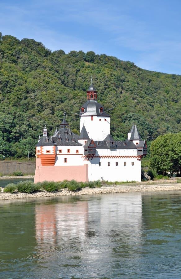 Pfalzgrafenstein, castelo, vale de Rhine, Alemanha fotografia de stock