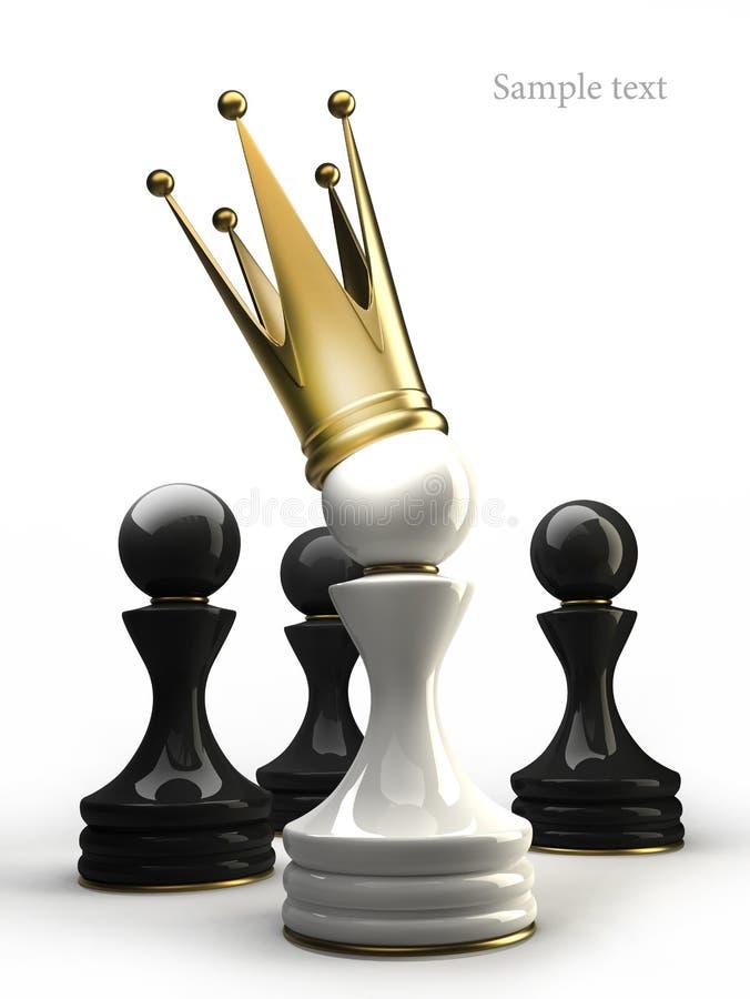 Pfandgegenstand in einer goldenen Krone   lizenzfreie abbildung