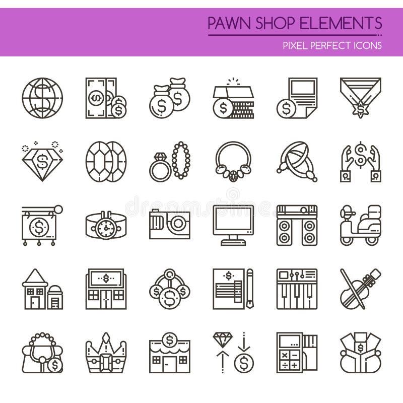 Pfandhaus-Elemente lizenzfreie abbildung