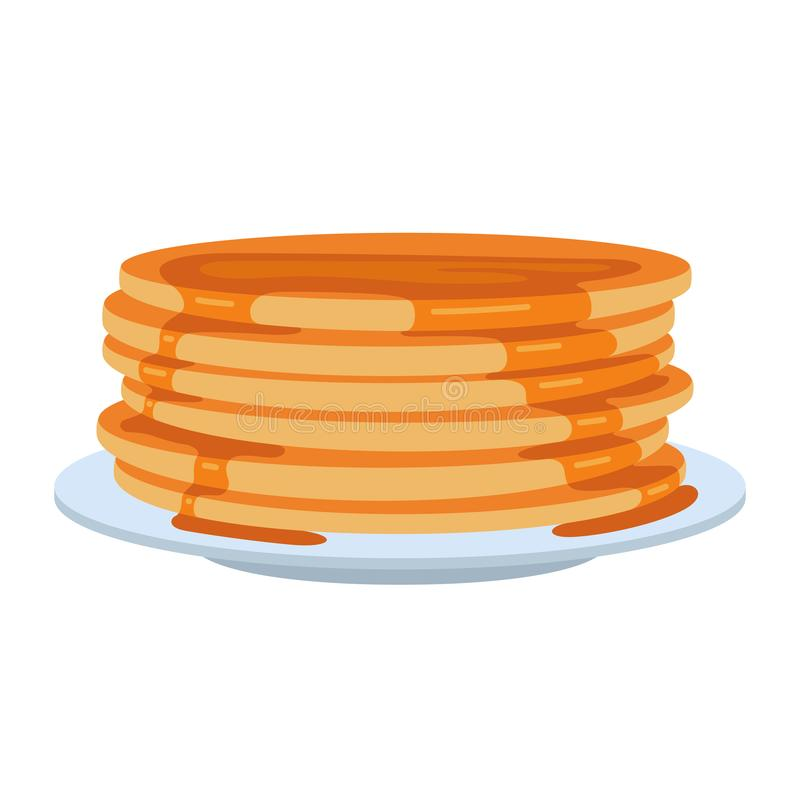 Pfannkuchen auf Platte vektor abbildung
