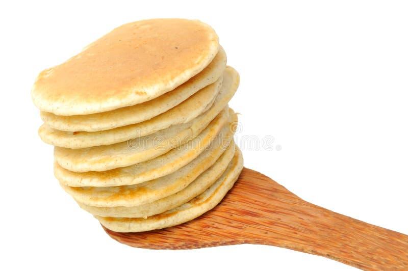 Pfannkuchen auf spachtel stockfotos
