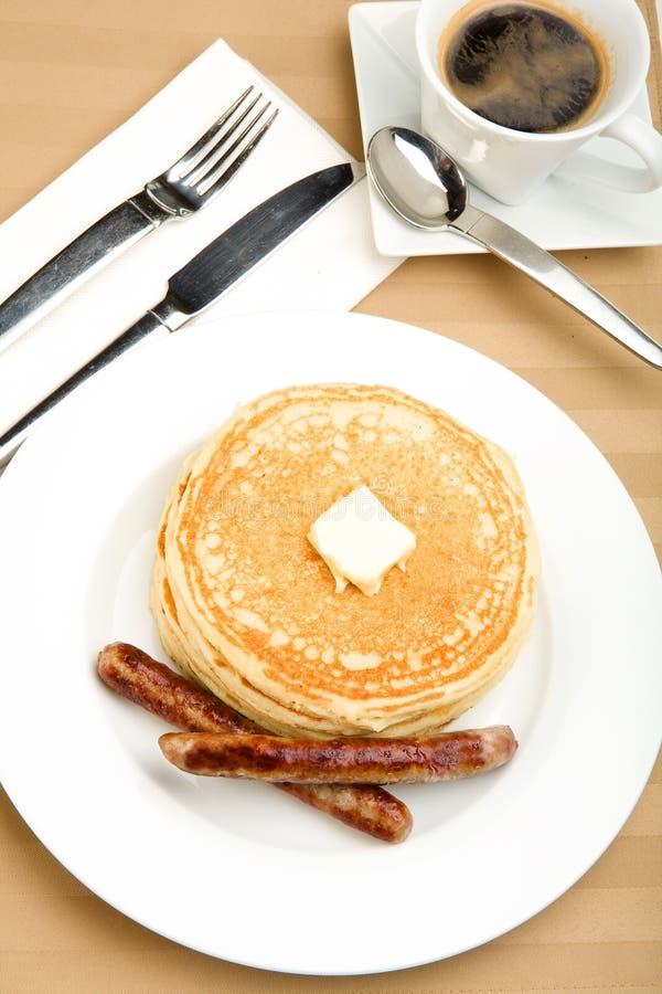 Pfannkuchen-Frühstück stockbild