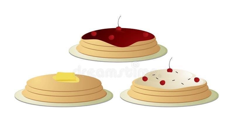 Pfannkuchen gestapelt stock abbildung
