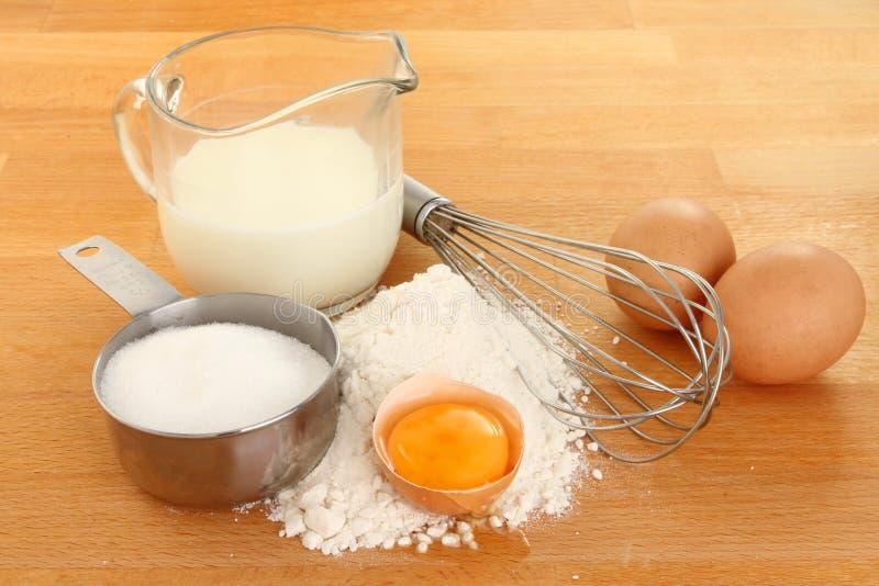 Pfannkuchenbestandteile lizenzfreie stockfotografie