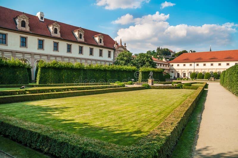 Pfaugärten von Wallenstein-Palast, Prag lizenzfreies stockbild