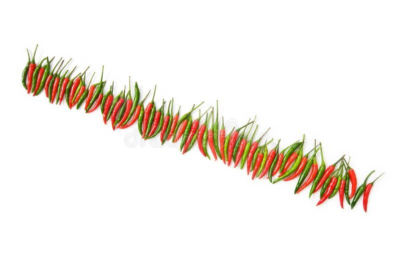 Pfeffer des roten Paprikas getrennt lizenzfreie stockfotografie