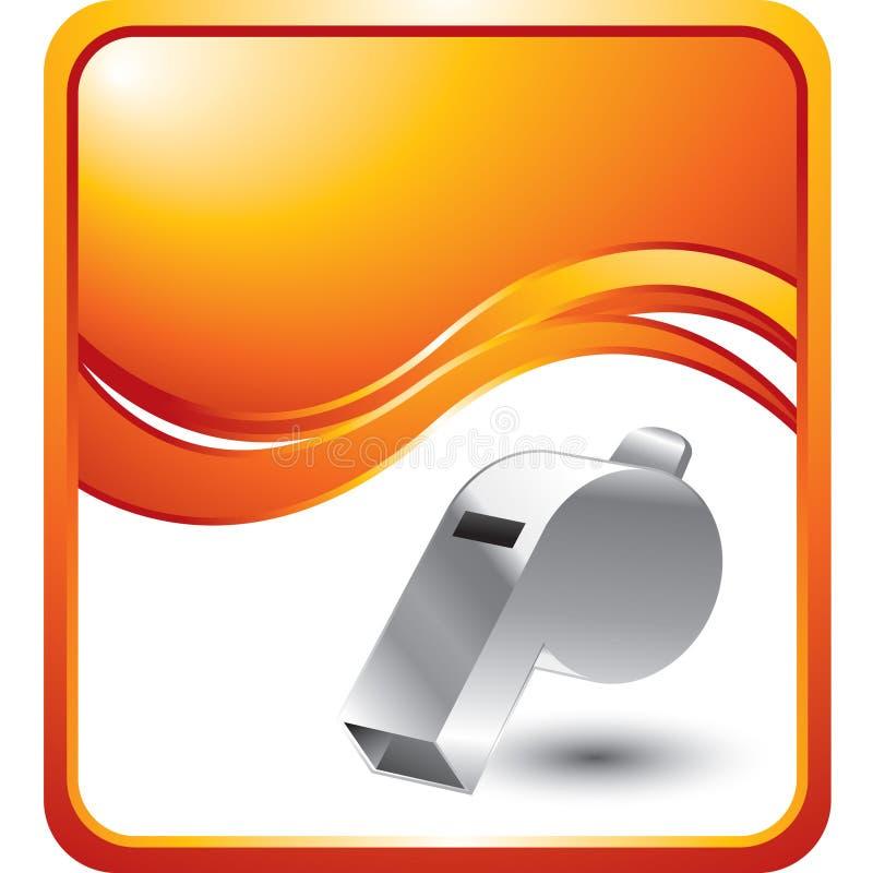 Pfeife auf orange Wellenhintergrund stock abbildung