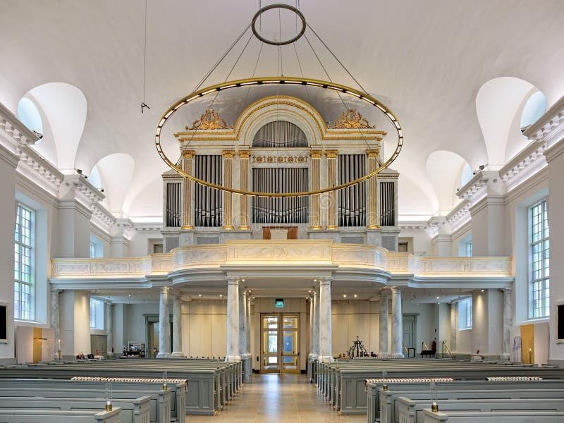 Pfeifenorgel von Gothenburg-Kathedrale, Schweden lizenzfreies stockbild