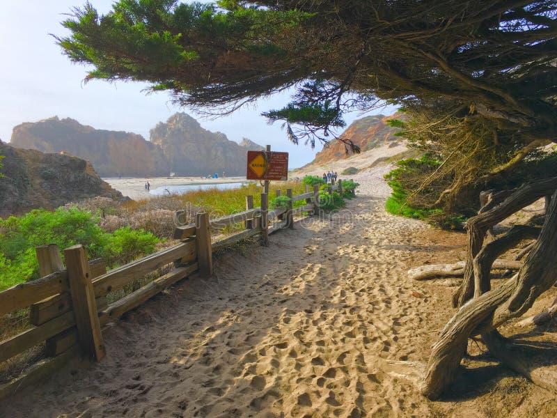 Pfeiffer Beach entrance royalty free stock image