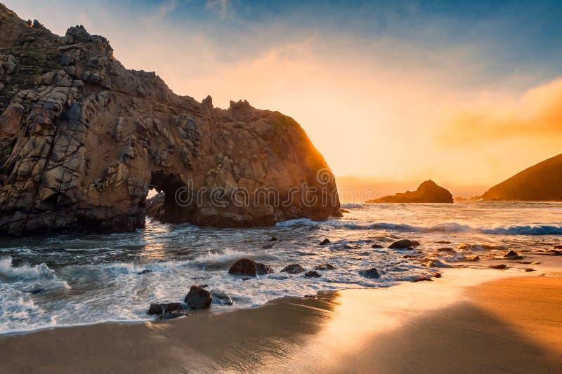Pfeiffer Beach California royalty free stock image