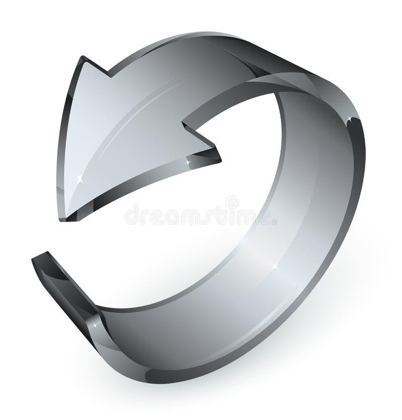 Pfeil 3D vektor abbildung