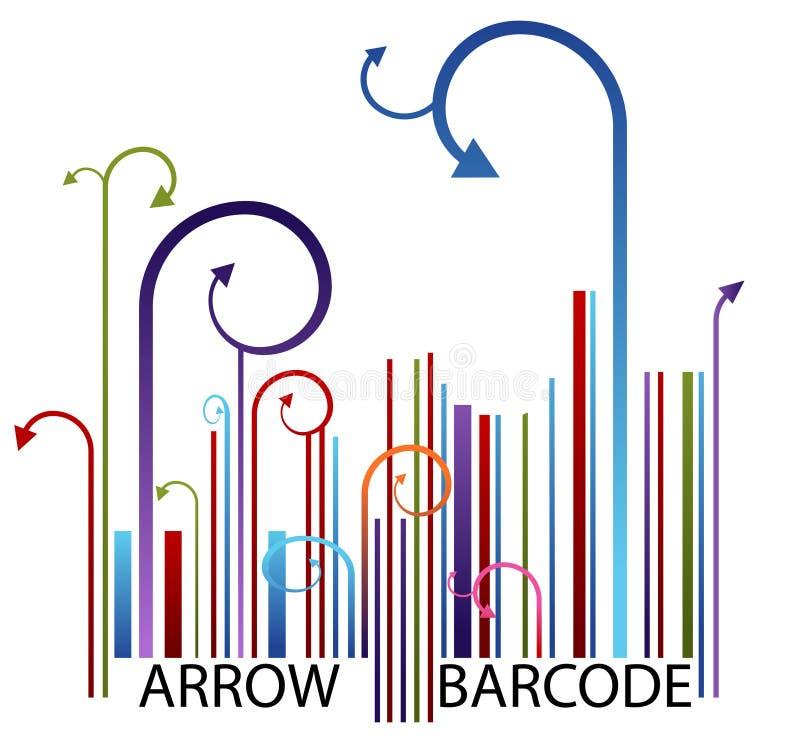 Pfeil-Barcode stock abbildung