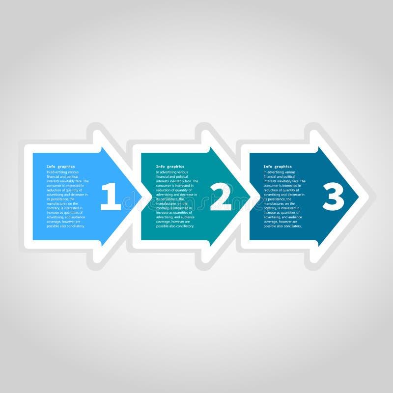 Pfeil business3 lizenzfreie abbildung