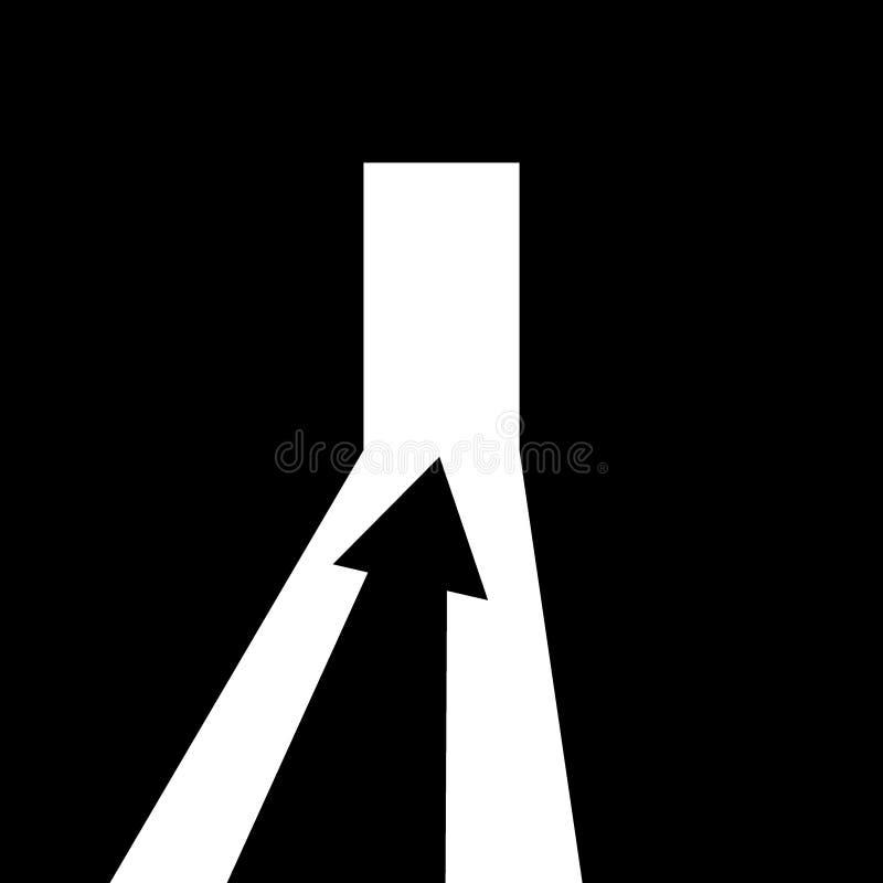 Pfeil, der die Richtung zeigt stock abbildung