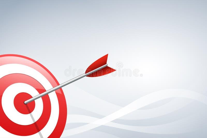 Pfeil, der einen Zielpfeil auf Wellenformhintergrund schlägt Konzept für zielgruppenorientiertes Marketing, Technologie, Network  vektor abbildung