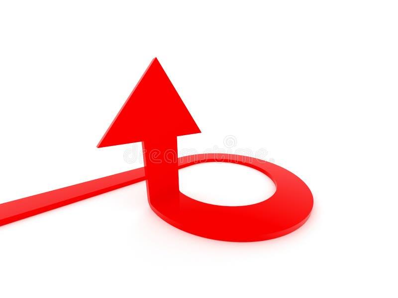 Pfeil, der hoch zielt vektor abbildung