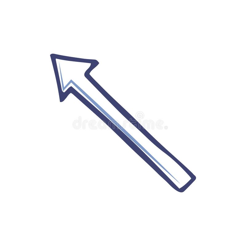 Pfeil, der linke obere Ecke, Linie Art Indicator zeigt lizenzfreie abbildung
