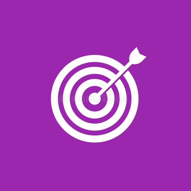 Pfeil in der Mitte der Zielvektorikone vektor abbildung