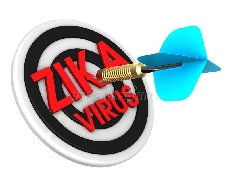 Pfeil, der Ziel schlägt Zika in einem Zielkonzept vektor abbildung