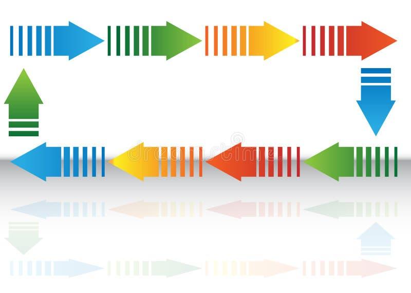 Pfeil-Diagramm lizenzfreie abbildung