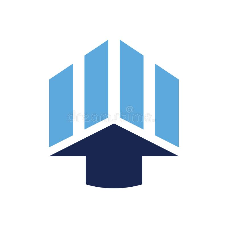 Pfeil-Diagramm blauer Logo Vector vektor abbildung