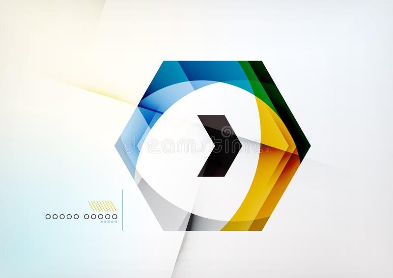 Pfeil-geometrischer Form-Zusammenfassungs-Geschäfts-Hintergrund lizenzfreie abbildung