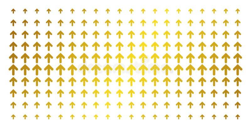 Pfeil herauf Goldhalbtonreihe lizenzfreie abbildung