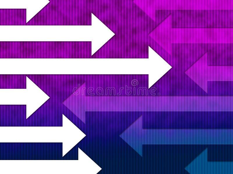 Pfeil-Hintergrund-Shows linksrechts und Richtung lizenzfreie abbildung