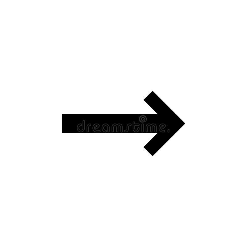 Pfeil-Ikone in der modischen flachen Art lokalisiert auf grauem Hintergrund Pfeilsymbol für Ihr Websitedesign, Logo, APP, UI vektor abbildung
