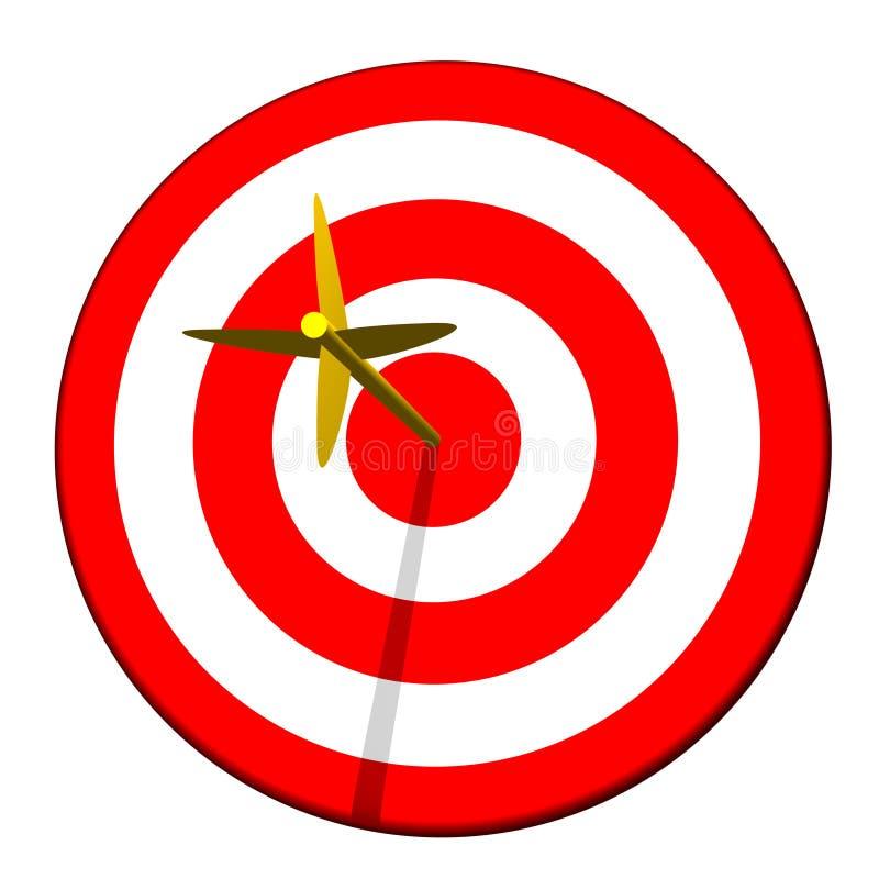 Pfeil im Ziel-Bullauge stock abbildung